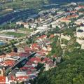 Letecký pohľad na mesto Trenčín